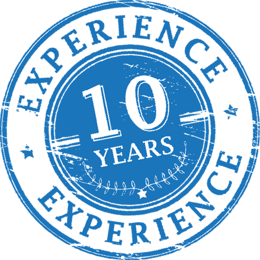 10 years of experience in the property management business